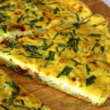 Chive, Onion and Sun-Dried Tomato Frittata. Vegan. Gluten-free.