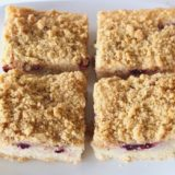 Lemon Berry Crumble Slice (Dairy-free / Egg-free / Vegan)