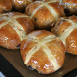Vegan Hot Cross Buns (Dairy free, Egg free)